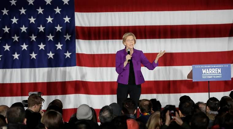 Elizabeth Warren builds largest US presidential campaign staff