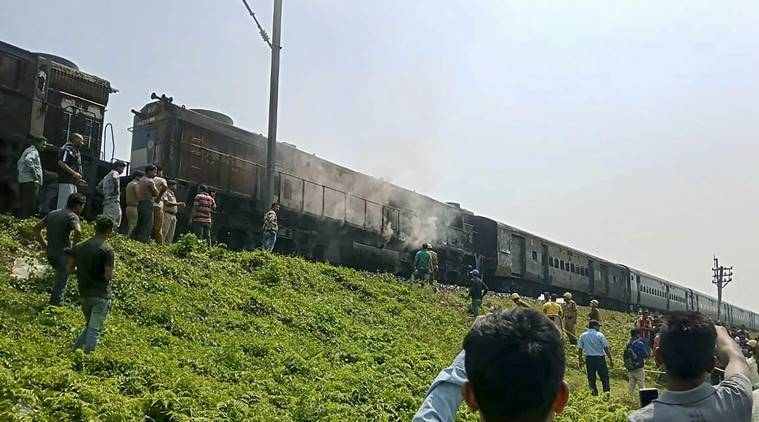 Chandigarh-Dibrugarh Express Train's engine catches fire, two passengers killed
