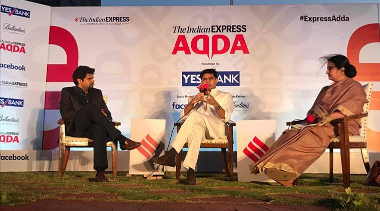 Watch: Sachin Pilot at Express Adda today