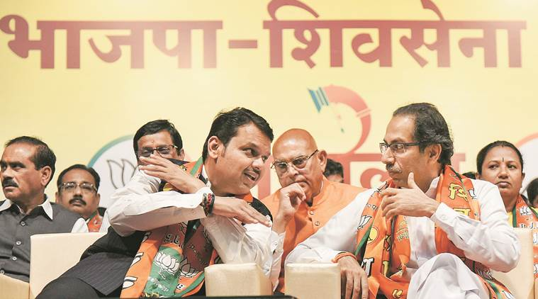 lok sabha elections, devendra fadnavis, maharashtra, uddhav thackeray, narendra modi, pm modi, bjp, shiv sena, bjp shiv sena alliance, opposition, election news, indian express news