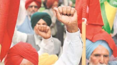 punjab farmers' protest, dhuri sdm, Sangrur, Barnala, farmers protest at Sangrur and Barnala, punjab news, ludhiana news, indian express