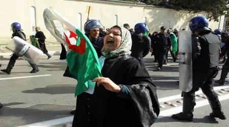 Algerian President Bouteflika announces he won't seek another term, protestors celebrate
