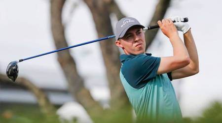 Matthew Fitzpatrick drives the ball off of the 15th tee during the third round of the Arnold Palmer Invitational golf tournament at Bay Hill Club & Lodge.