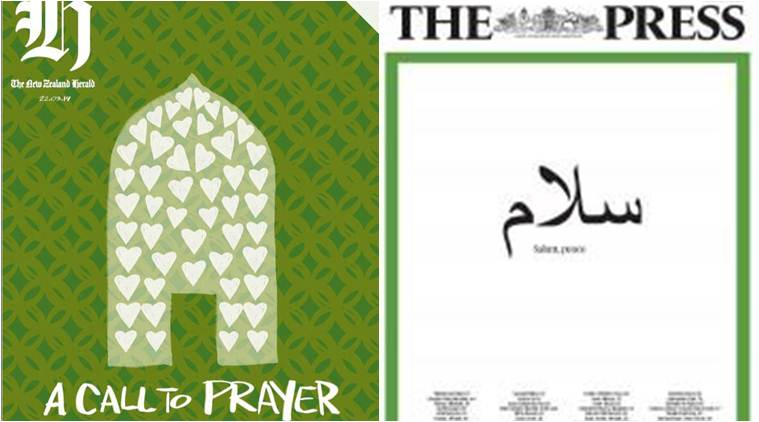 christchurch mosque shooting, christchruch mosque attack, new zealand mosque shooting, new zealand dailies, new zealand newspapers, front pages of new zealnd dailies, indian express