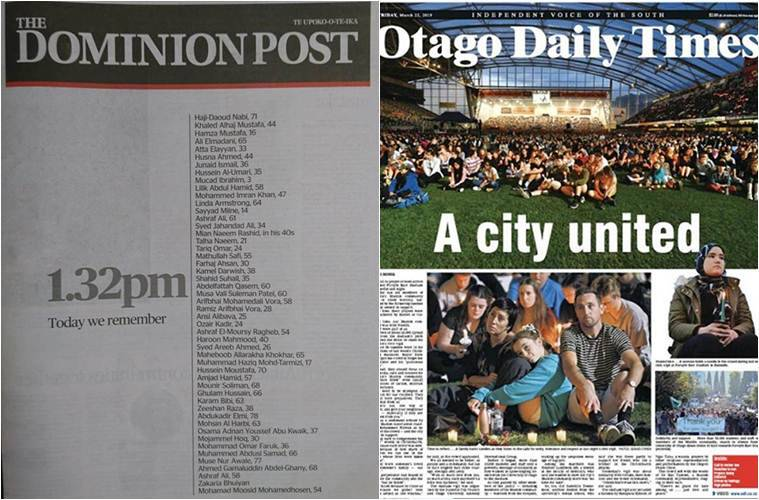 The front pages of The Dominion Post and Otago Times