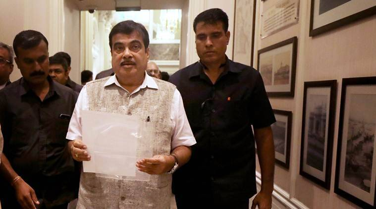 Nitn Gadkari, nomination filed, nitin gadkari files nomination, lok sabha elections, lok sabha polls, lok sabha elections, bjp govt, indian express