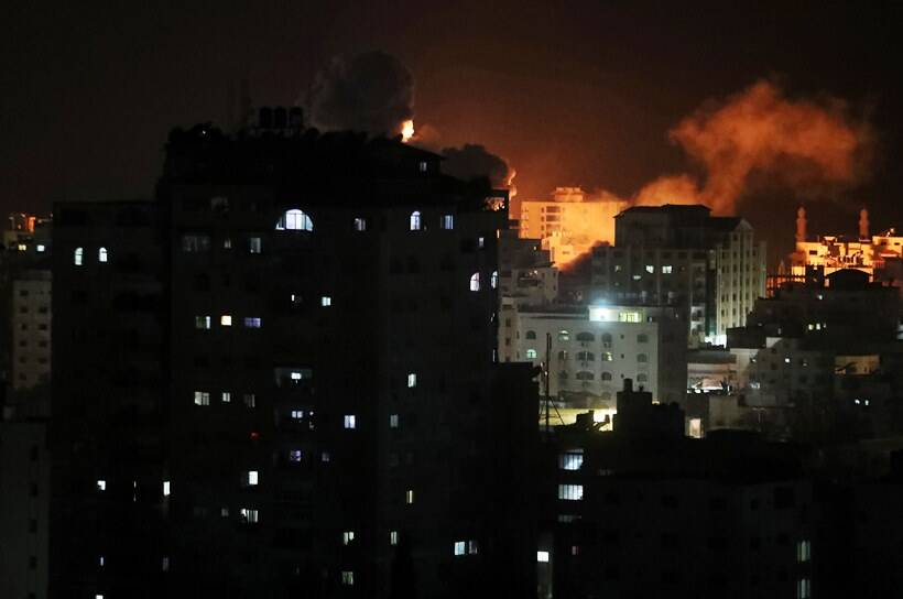 Israel strikes Gaza after rockets hit Tel Aviv