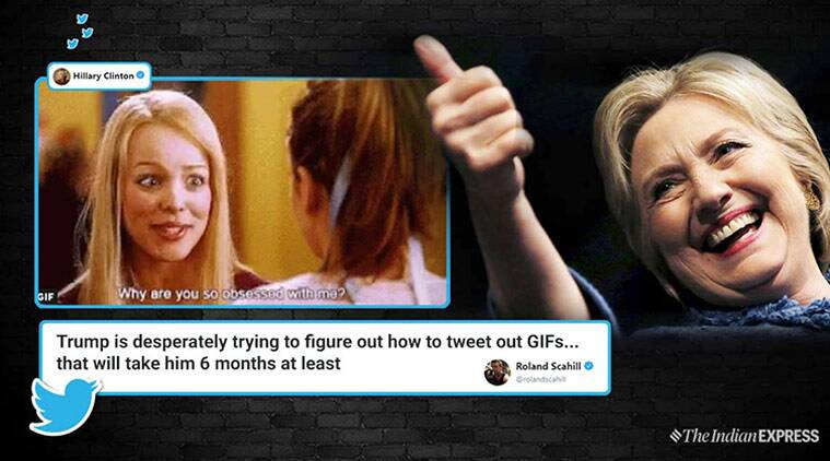Hillary clinton, donald trump, trump hillary clinton tweet, mean girls, hillary mean girls tweet, funny news, viral news, indian express