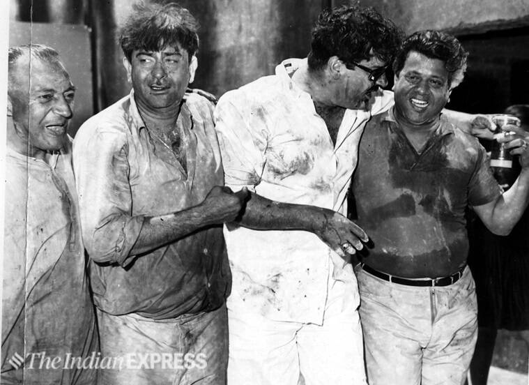 raj kapoor photos at rk studios holi