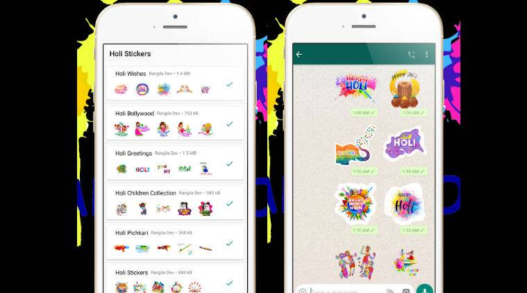 Happy holi 2019 send holi wishes to friends and family through whatsapp sticker