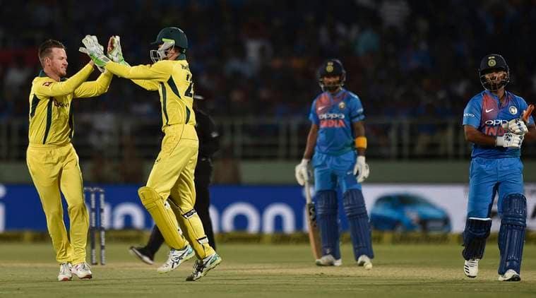 Australia beat India in 4th ODI, level series
