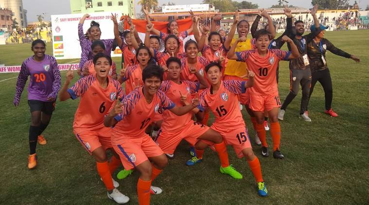 India women trounce Nepal 3-1 to clinch fifth straight SAFF title