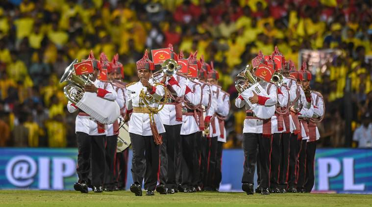IPL 2019: Military band performs ahead of CSK vs RCB at Chepauk