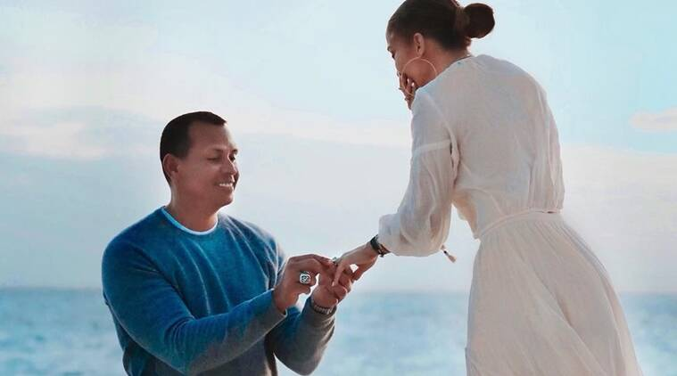 Jennifer Lopez and Alex Rodriguez proposal pictures