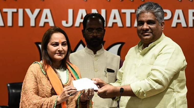 jaya prada joins bjp, jaya prada, firoz khan, firoz khan on jaya prada, SP on jaya prada, jaya prada rampur, lok sabha elections 2019, election news, UP news