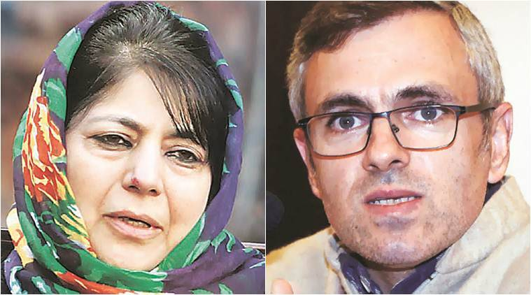 Former Jammu and Kashmir chief ministers Mehbooba Mufti (left) and Omar Abdullah have been placed under house arrest late Sunday night.