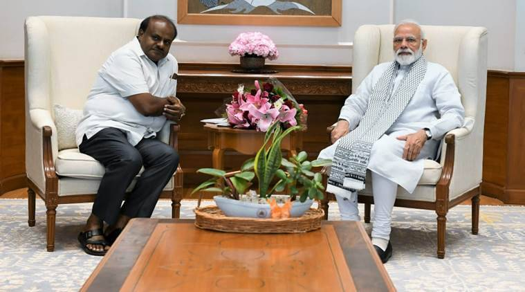 narendra modi, pm modi, hd kumaraswamy, karnatka chief minister, bjp, jds, indian express news