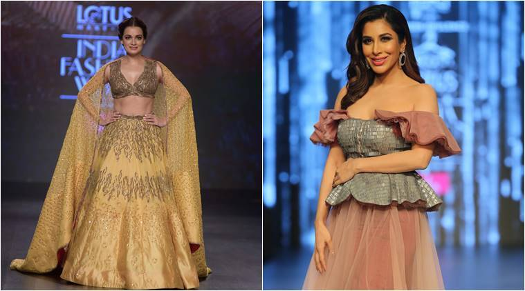Lotus Make Up India Fashion Week 2019 Day 3 Dia Mirza And Sophie Choudry Walk The Ramp As Showstoppers Lifestyle News The Indian Express