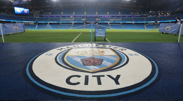 General view inside the Etihad stadium before the match between Manchester City and West Ham
