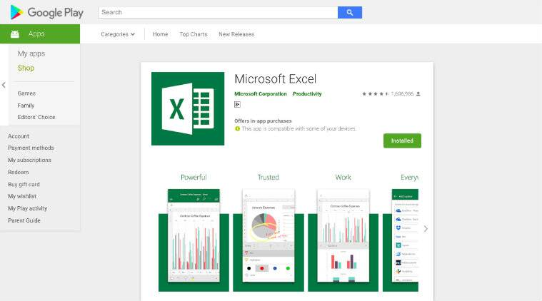 Microsoft Excel, Microsoft, Microsoft Excel Android, Microsoft Excel photo to sheet, Microsoft Excel Play Store, Microsoft Excel update