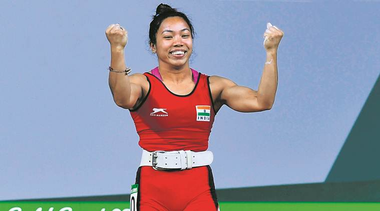 Mirabai Chanu, Mirabai Chanu weightlifting, Mirabai Chanu injury, Mirabai Chanu news, sports news, Indian express