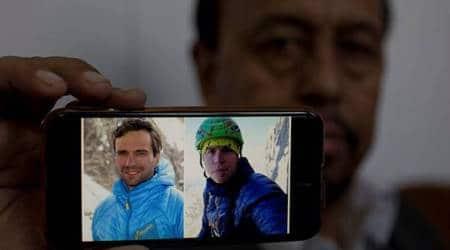 Nanga parbat, climbers missing on nanga parbat, climbers missing on Pakistan peak, Italian Daniele Nardi, Briton Tom Ballard, search operation, indian express