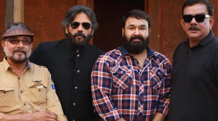 Mohanlal on the sets of his upcoming film Marakkar: Arabikadalinte Simham