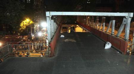 mumbai overbridge collapse, mumbai bridge collapse, overbridge collapse in mumbai, mumbai bridge accident, indian express news