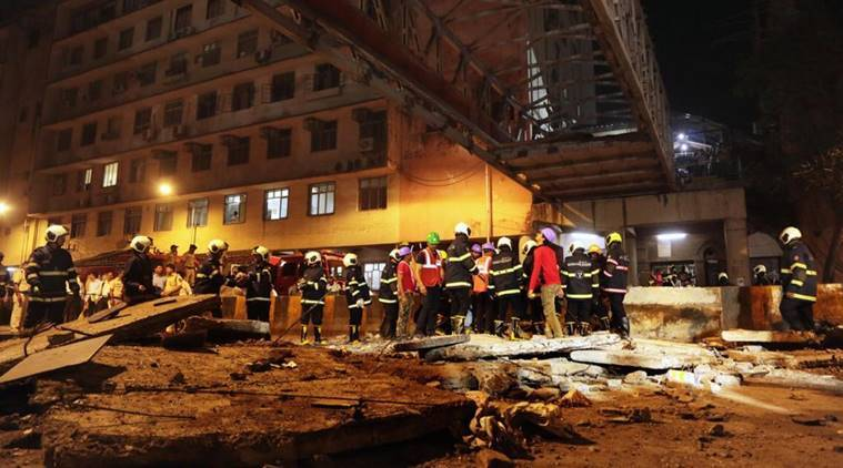 Six persons died and more than 30 others injured near Chhatrapati Shivaji Terminus in Mumbai