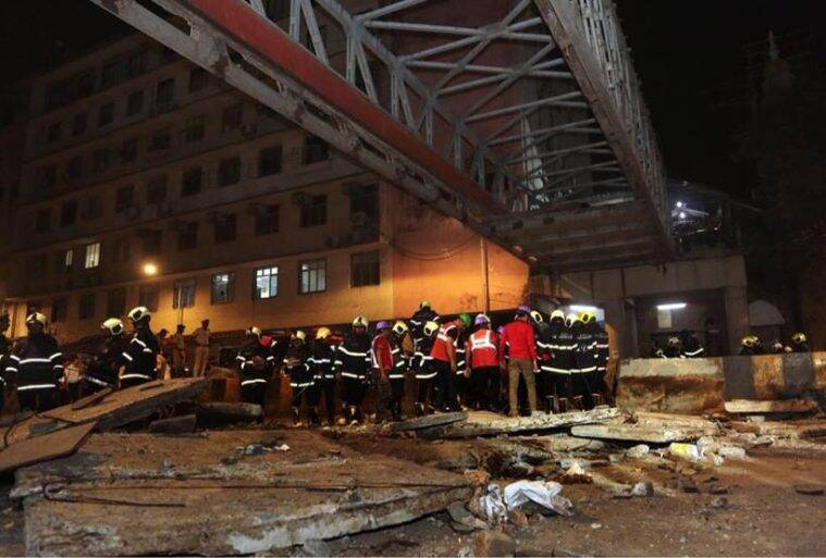 Foot over bridge near VT Railway Station in Mumbai collapses