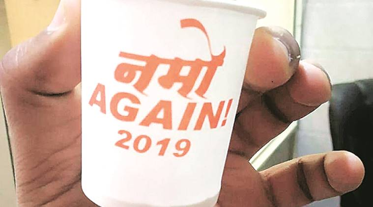 BJP goes to tea stalls with 'NaMo Again' cups