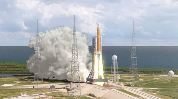 NASA, NASA Boeing rocket, Space Launch System, NASA Exploration Mission 1, NASA Orion spacecraft, NASA moon mission