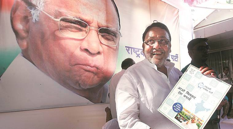 lok sabha elections, lok sabha elections 2019, lok sabha polls, mumbai, elections in mumbai, mumbai elections, ncp, sharad pawar, nationalist congress party, dilip walse patil, manifesto, party manifesto, gst, demonetisation, indian express news