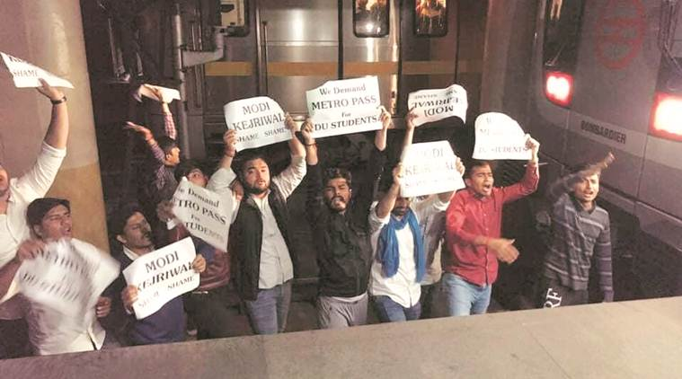 NSUI's idea of protest: Jump on Metro tracks to press for concession