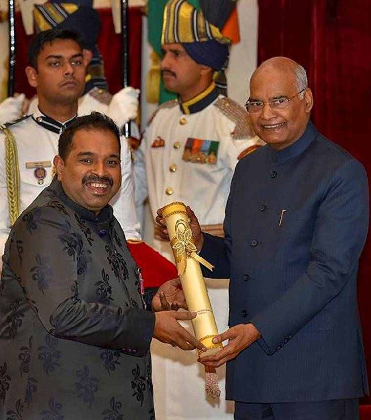 Singer and composer Shankar Mahadevan was also honoured with Padma Shri at the event