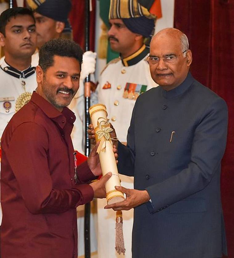 Director and actor Prabhudeva received Padma Shri for his contribution in the field of Art - Dance