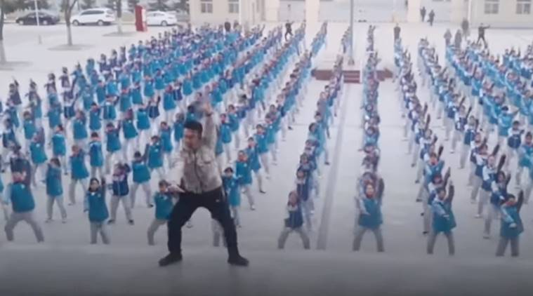 China, PE teacher dance, teacher viral dance, china dance video, Shaanxi Normal University, students dancing