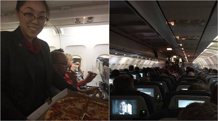 IT'S BEEN A SLICE! Pizza pilot delivers for stranded passengers