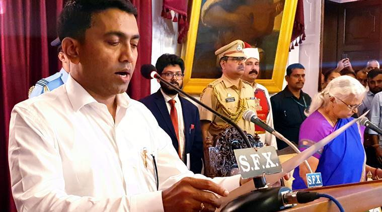 Pramod Sawant is Manohar Parrikar's successor, takes oath as new Goa CM