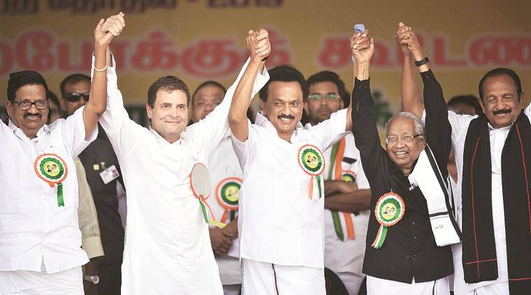 Congress, Rahul Gandh, Congress DMK alliance, MK, Tamil Nadu elections, lok sabha elections, lok sabha polls 2019, indian express, india news, latest news