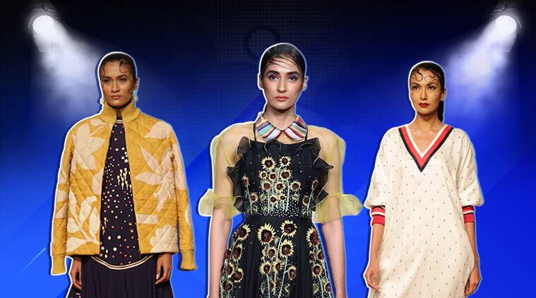 Lotus India Fashion Week 2019, Lotus India Fashion Week 2019 designers, Lotus India Fashion Week 2019 day one round up, Lotus India Fashion Week 2019 designers rahul mishra, sahil kocchhar, rina dhaka, rahul mishra, indian express, indian express news