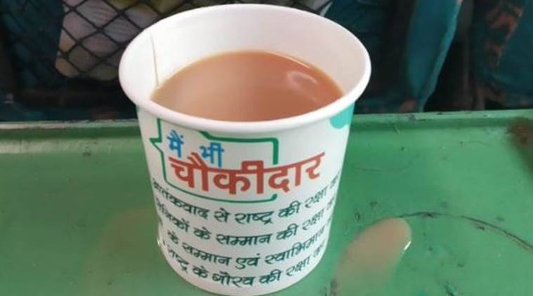 Railways says contractor fined after tea served on train in 'Main bhi chowkidar' cups