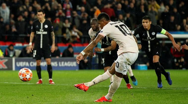 United stun PSG 3-1 to reach quarters