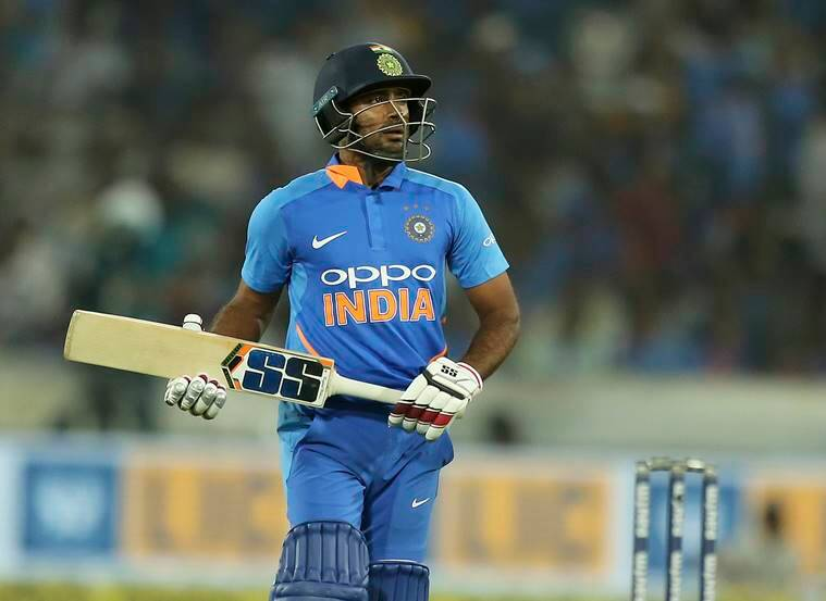 India's Ambati Rayudu leaves the field after his dismissal by Australia's Adam Zampa during the first one day international cricket match between India and Australia, in Hyderabad