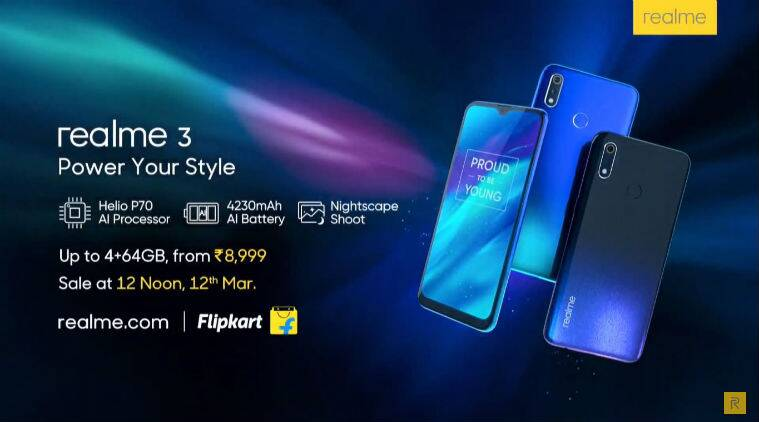 Realme 3 launch in India highlights: Will be Flipkart exclusive
