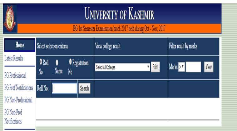kashmi, kashmir news, kashmir university, kashmir university result, kashmiuniversity.net, india result, education news