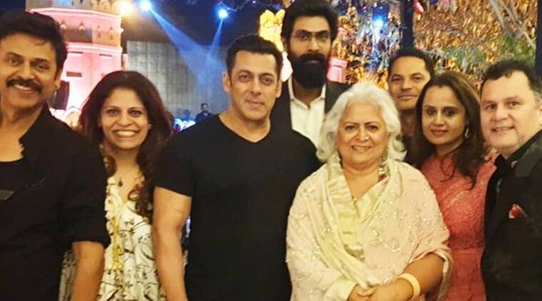 Salman Khan Attends Venkatesh's Daughter Aashritha's Wedding In Jaipur