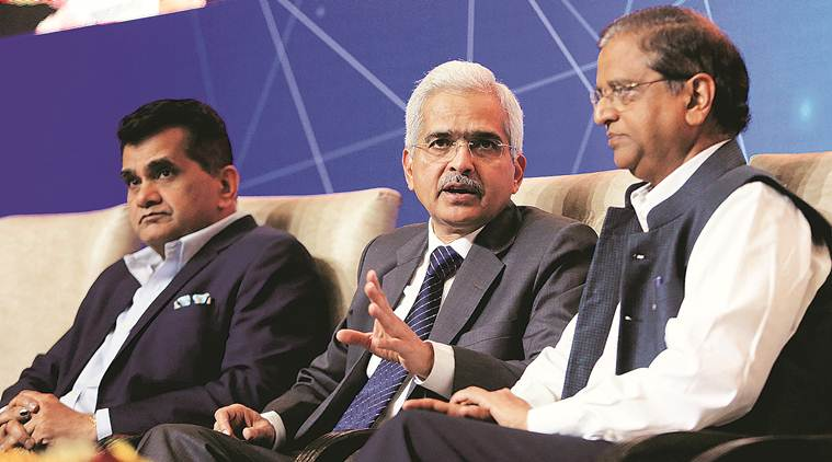 Shaktikanta Das, Reserve Bank of India, RBI, financial sector, Fintech conclave 2019, NITI Aayog, RBI Governor Shaktikanta Das, business news, Indian express