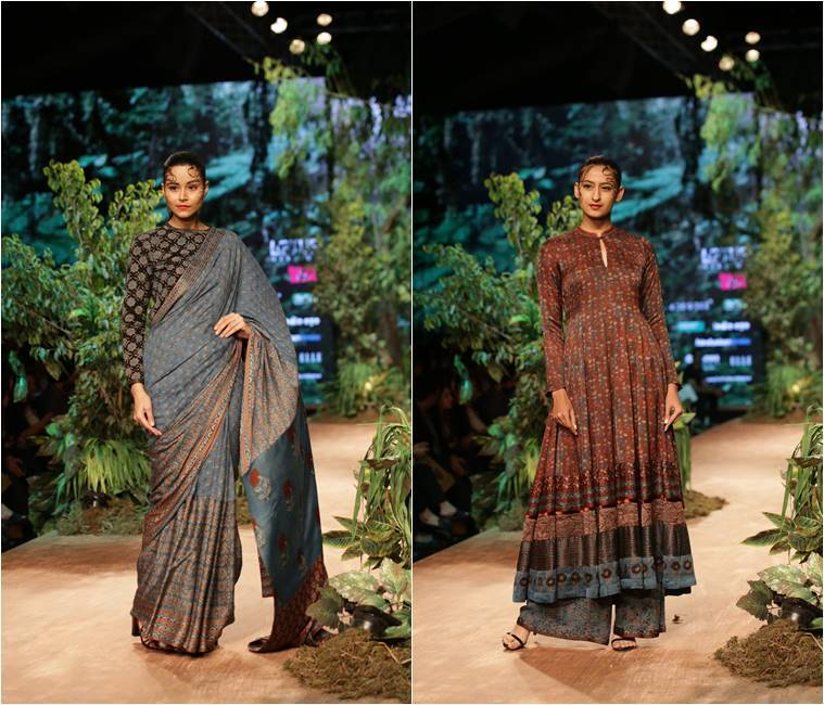 Rina Dhaka, Sahil Kochhar, Shalini James and Samant Chauhan, Livaeco Green Heart Show, FDCI , Lotus Make-up India Fashion Week Autumn Winter' 2019, indian express, indian express news