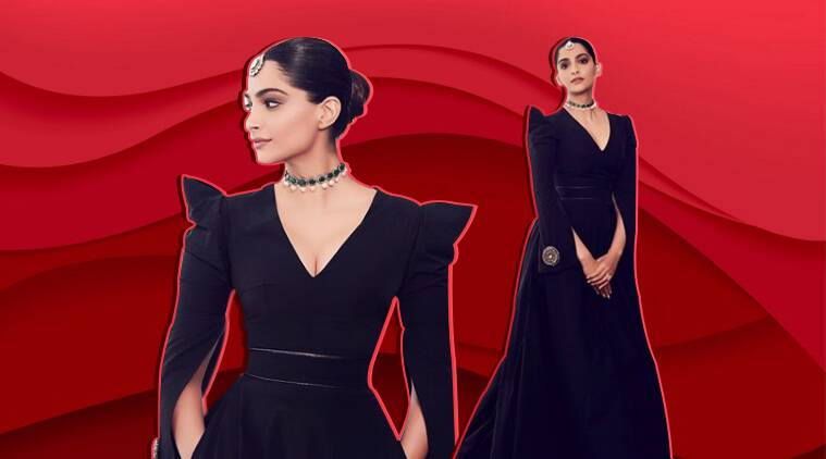 Sonam Kapoor nails an all-black look in this floor-length gown